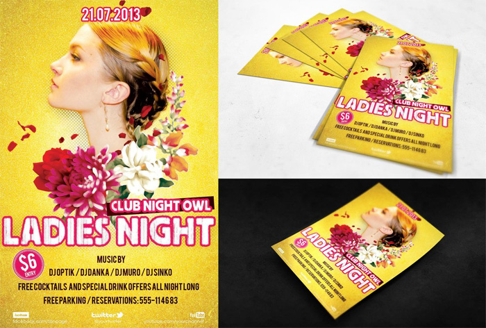 free-psd-flyer-ladies-night