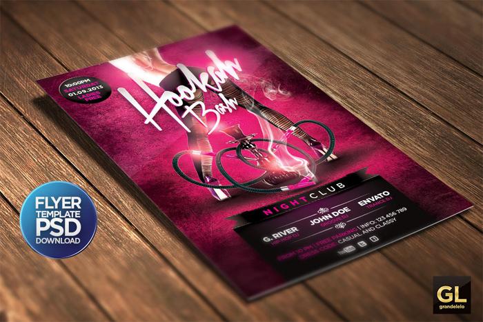 hookah-flyer-template