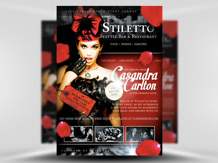 stiletto-free-singer-flyer-template