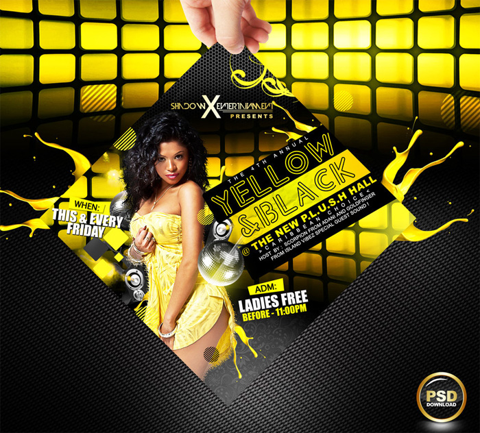 yellow-and-black-party-flyer-free-psd