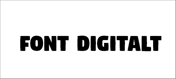 digitalt-font