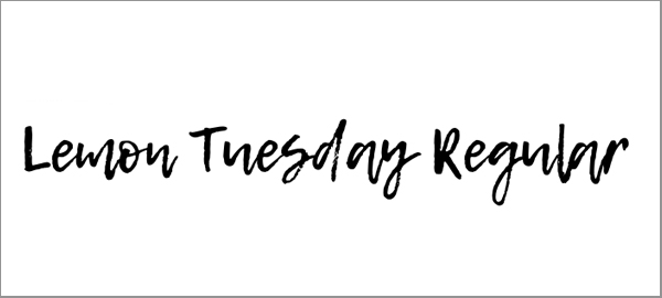 lemon-tuesday-font