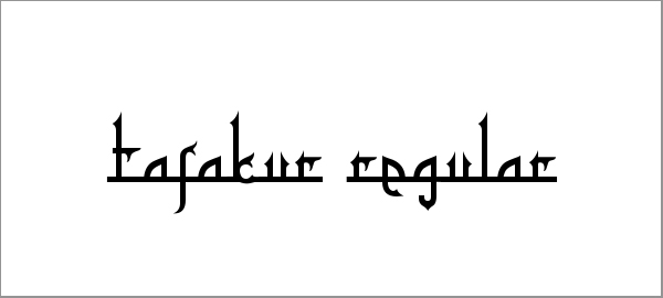 tafakur-font