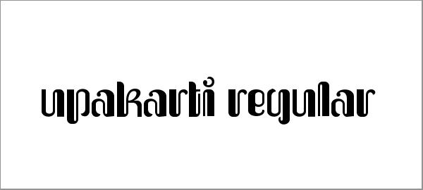 upakarti-font-family