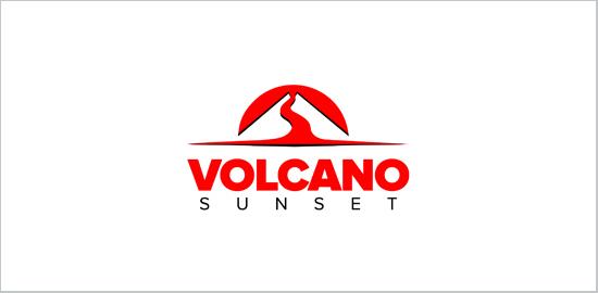 volcano-sunset