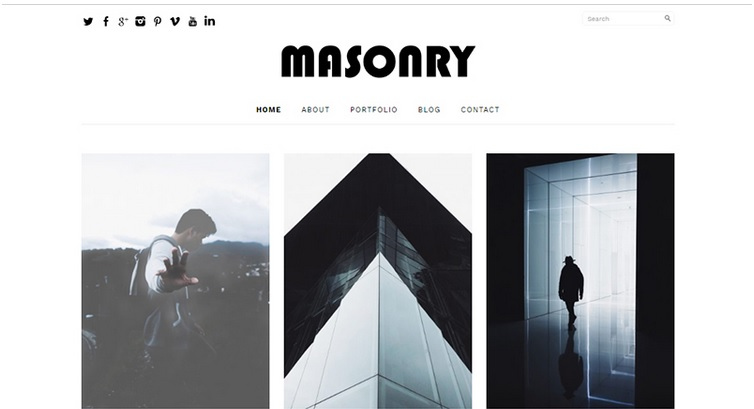 Masonry free WordPress theme