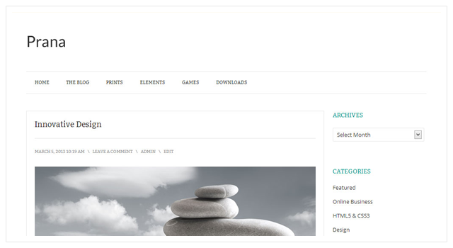 Prana Free WordPress Theme