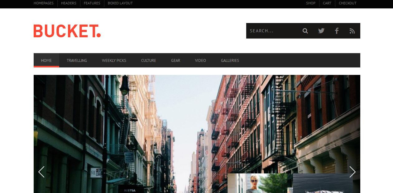 BUCKET - WordPress Magazine Themes