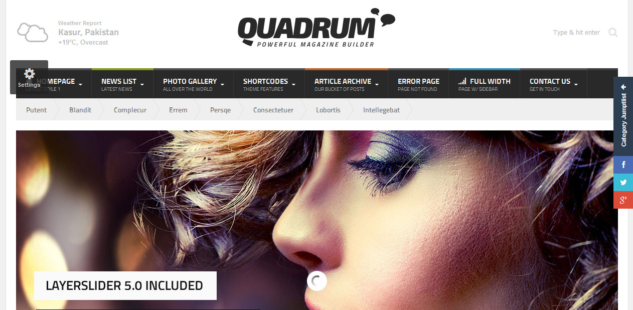 Quadrum - WordPress Magazine Themes