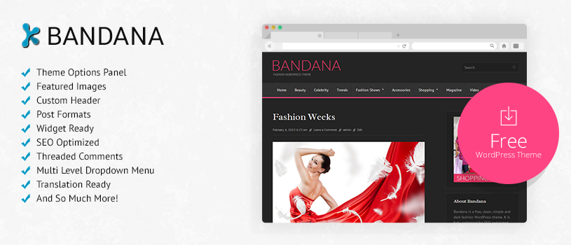 Bandana Free WordPress Theme Preview