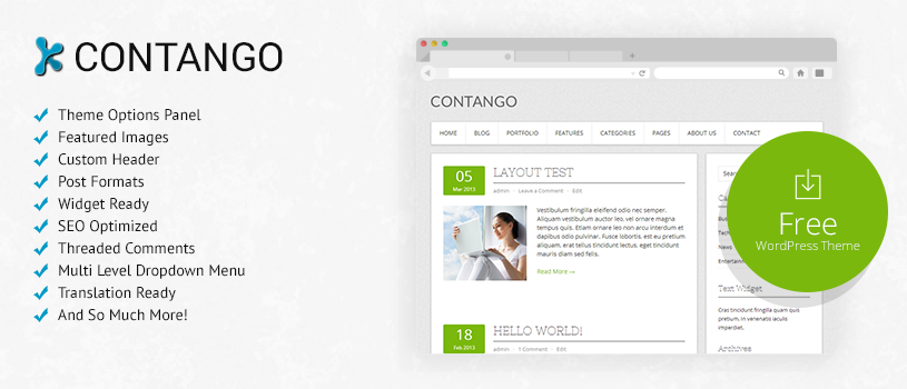 Contango Free WordPress Theme Preview
