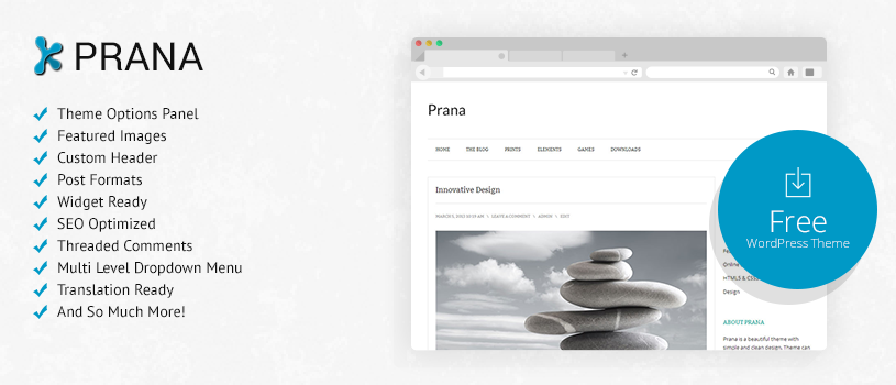 Prana Free WordPress Theme Preview