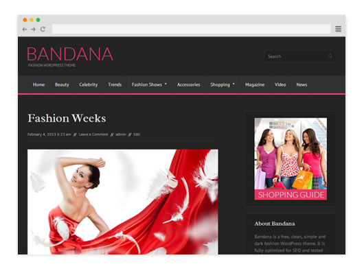 Bandana-Free-WordPress-Theme
