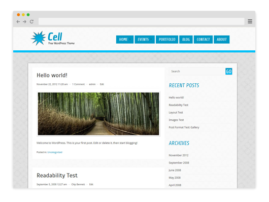 Cell-Free-WordPress-Theme