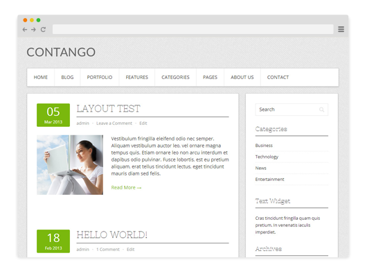Contango-Free-WordPress-Theme