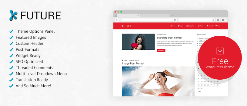 future wordpress theme