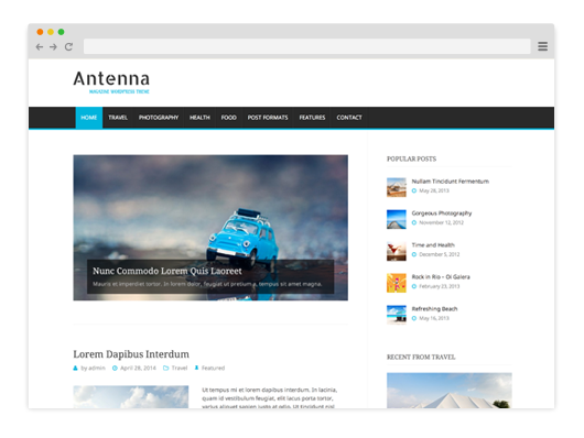 Antenna Magazine WordPress Theme