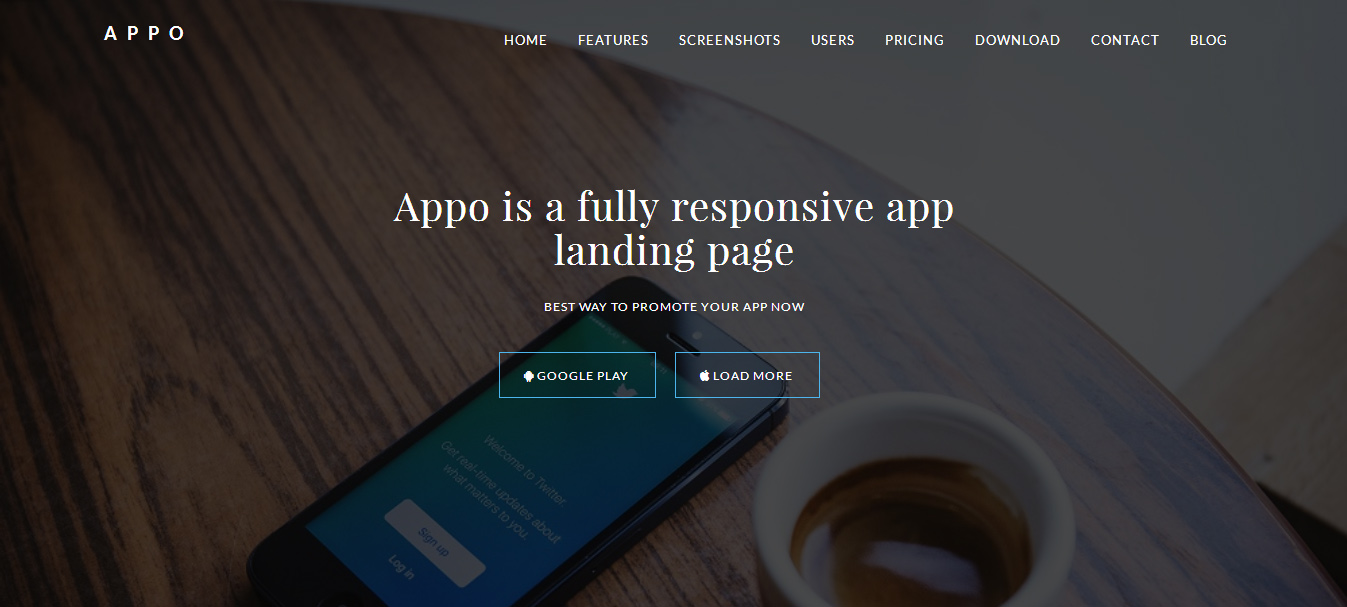 Google themes that move - Appo Is A Retina Show Prepared Application Presentation Page Marketing Wordpress Paid Themes Worked With Html5 And Css3 It Is Ideal For Application And