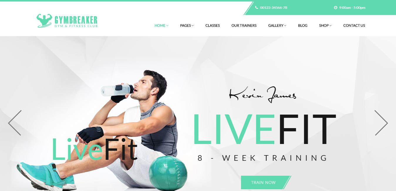 Unique Fitness Themes Wordpress Image - Resume Ideas