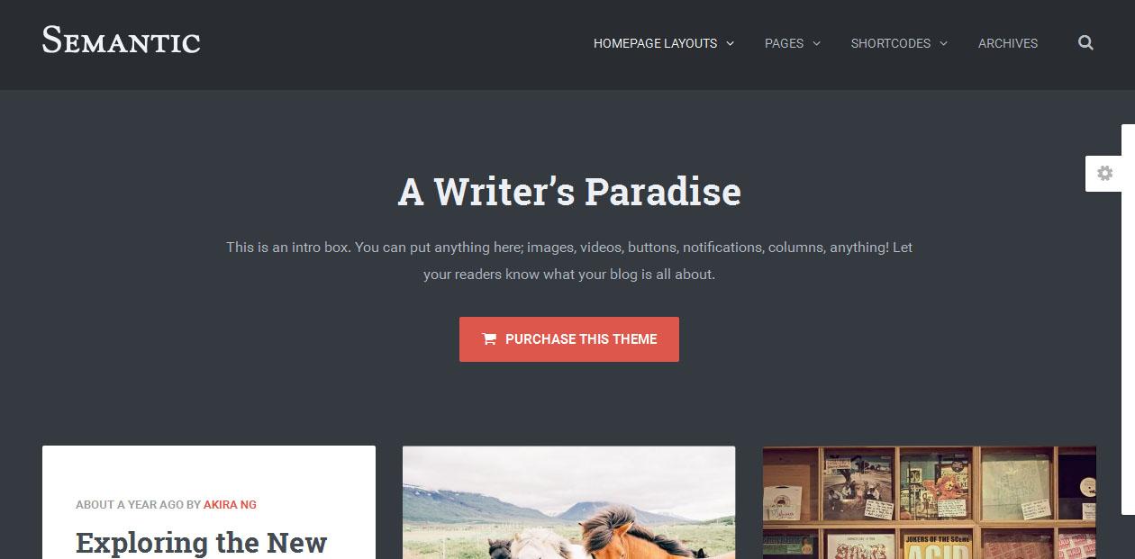 20 Best Writers WordPress Themes - DesignOrbital